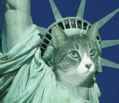Feline Statue of Liberty