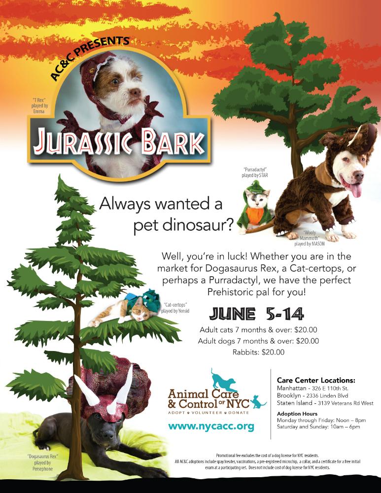 Jurassic Bark flyer